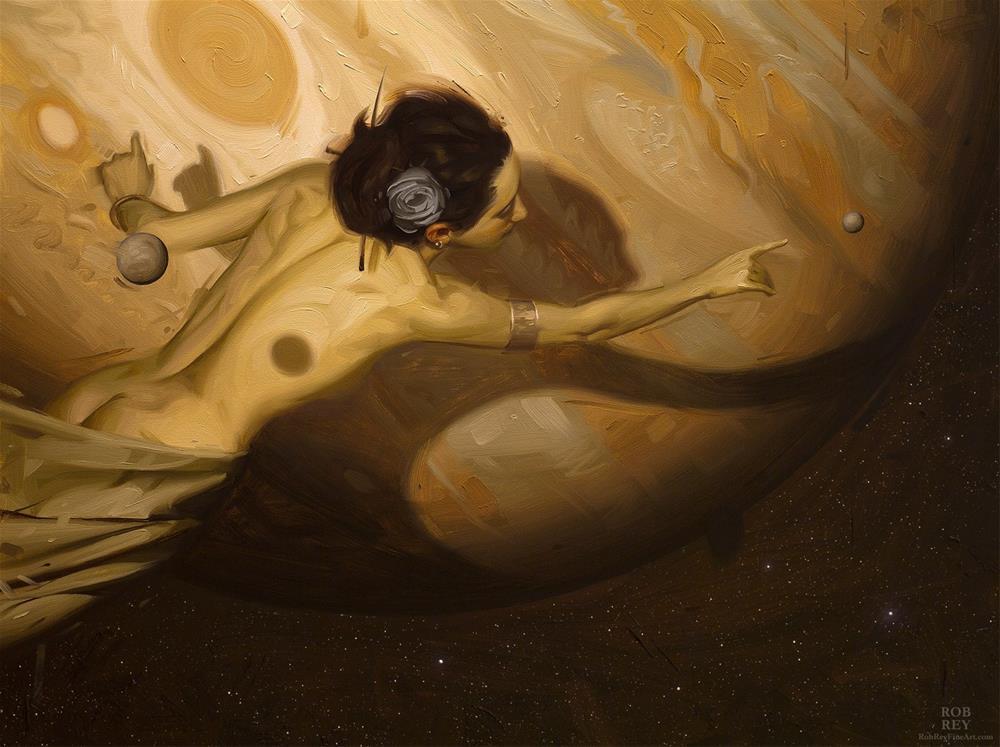 """Reaching Europa"" original fine art by Rob  Rey"