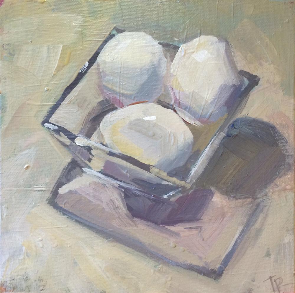 """""""Square Eggs"""" original fine art by Teddi Parker"""