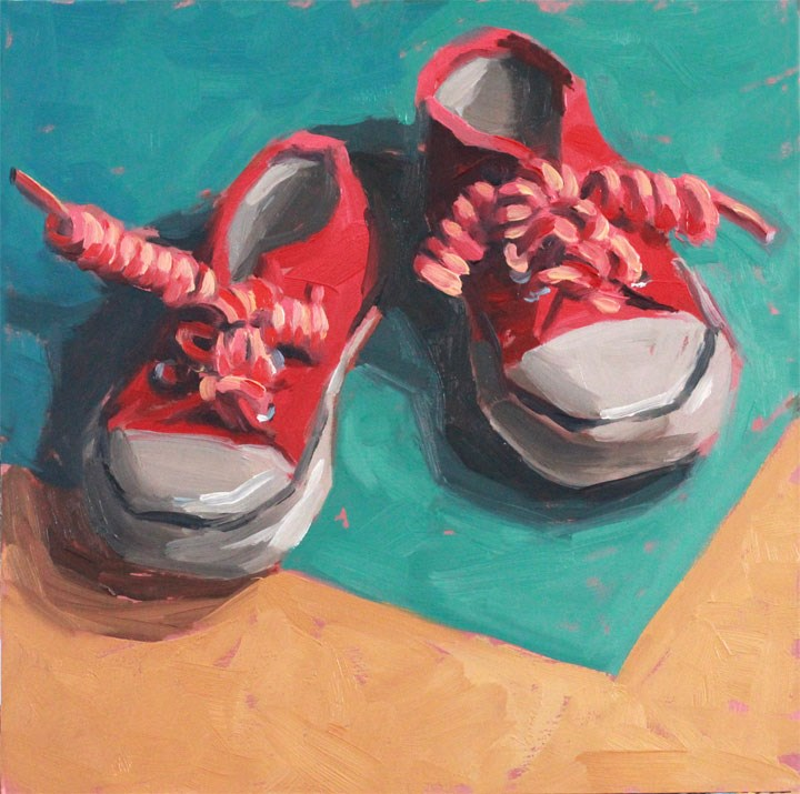 """Lil' Chucks"" original fine art by Nealy May Riley"