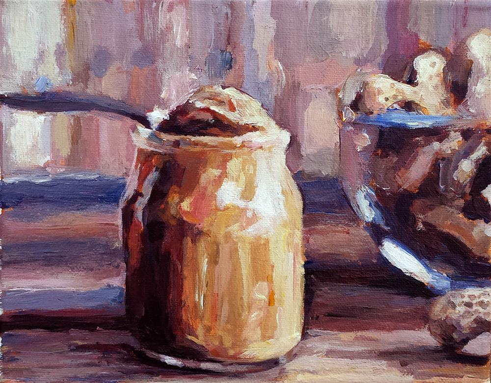 """A Spoonful of Peanut Butter"" original fine art by Nava Judith"