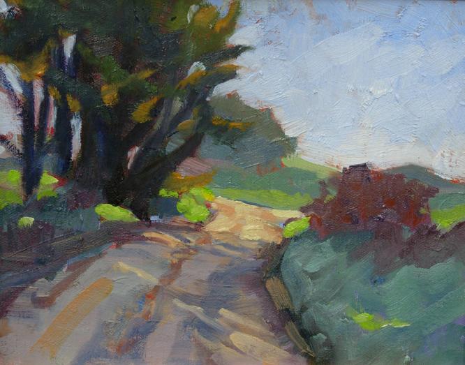 """Thursday Hike"" original fine art by Deborah Newman"