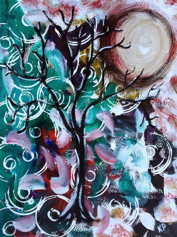 """I Bare my Soul When Winter Comes"" original fine art by Kali Parsons"