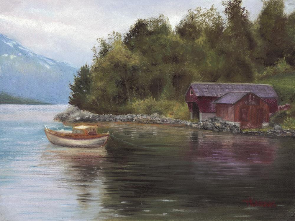 """Norway"" original fine art by Christina Karras"