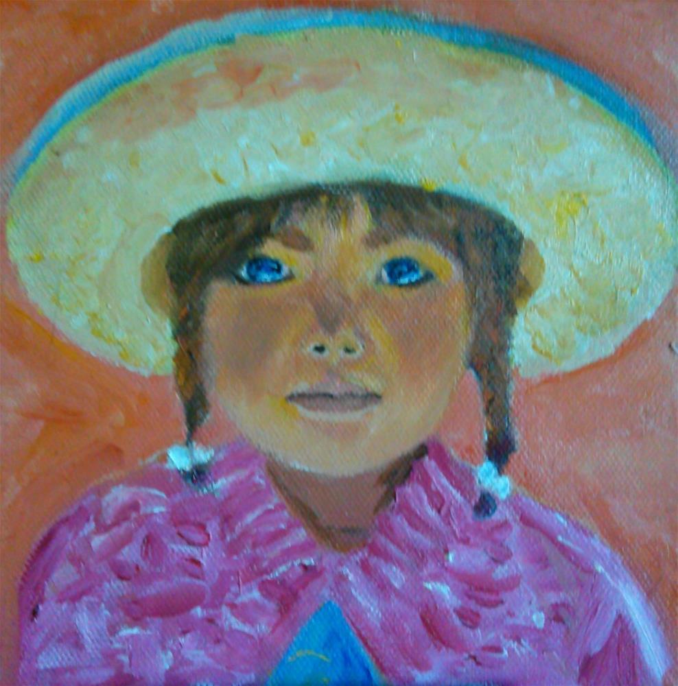 """""""Peruvian Girl"""" original fine art by Gerri Obrecht"""