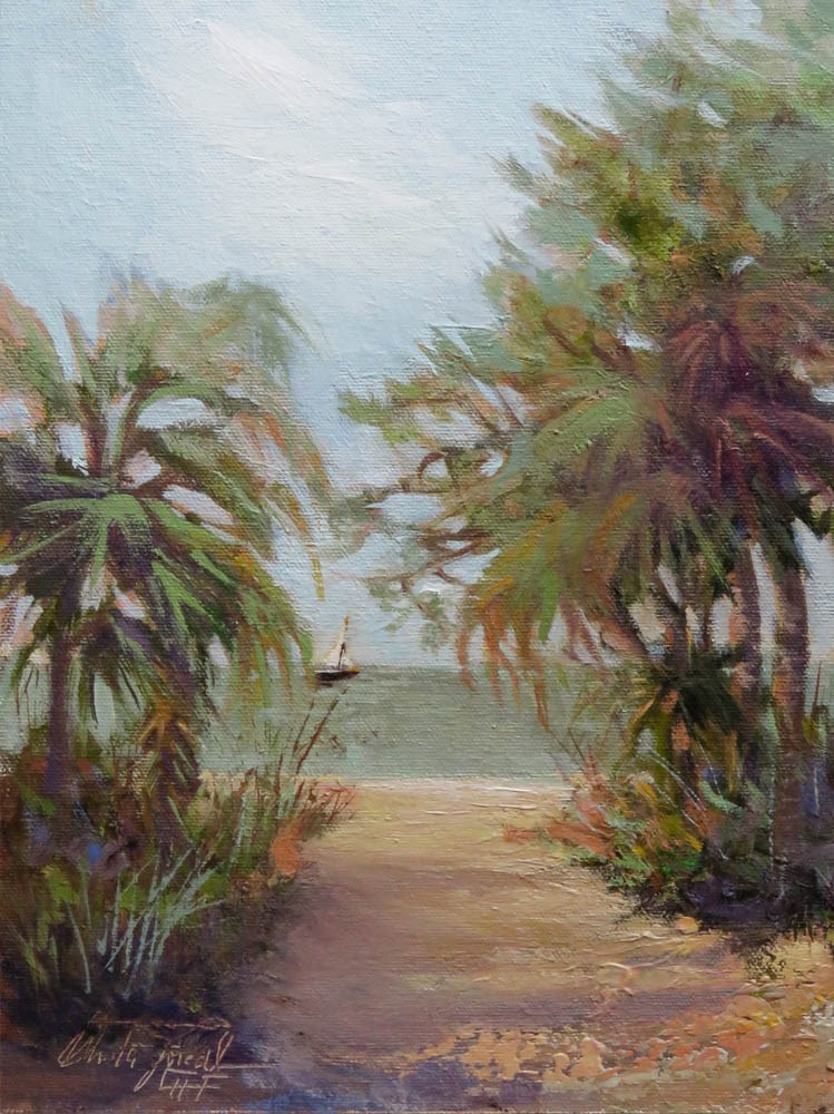 """Path to the Beach"" original fine art by Christa Friedl"
