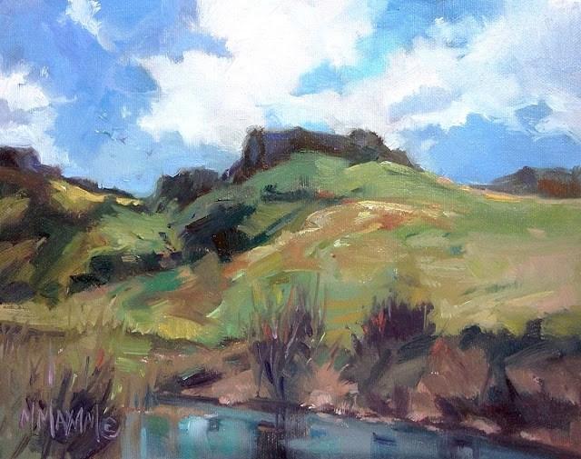"""""""Owyhee Spring"""" original fine art by Mary Maxam"""