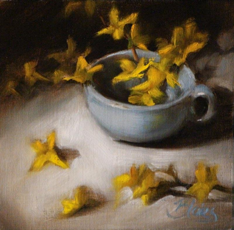 """Cup O' Sunshine"" original fine art by Pamela Blaies"