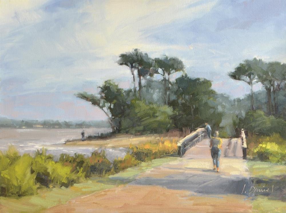 """""""Beach Bridge - Georgia Coast"""" original fine art by Laurel Daniel"""