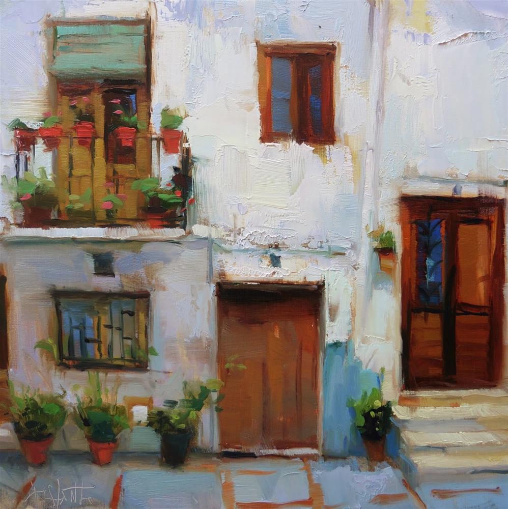 """Street of Lanjaron #2"" original fine art by Víctor Tristante"