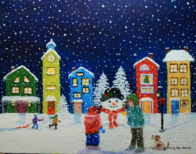 """Christmas Snow"" original fine art by Jean Nelson"