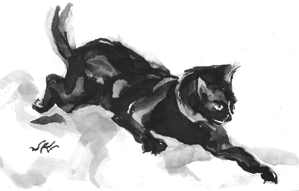 """Daily Cat 173"" original fine art by Jean Krueger"