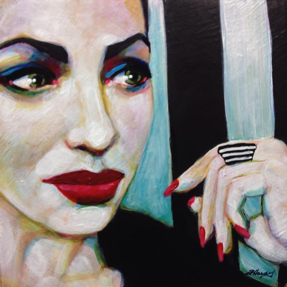 """The Shades Between"" original fine art by Angela Hardy"