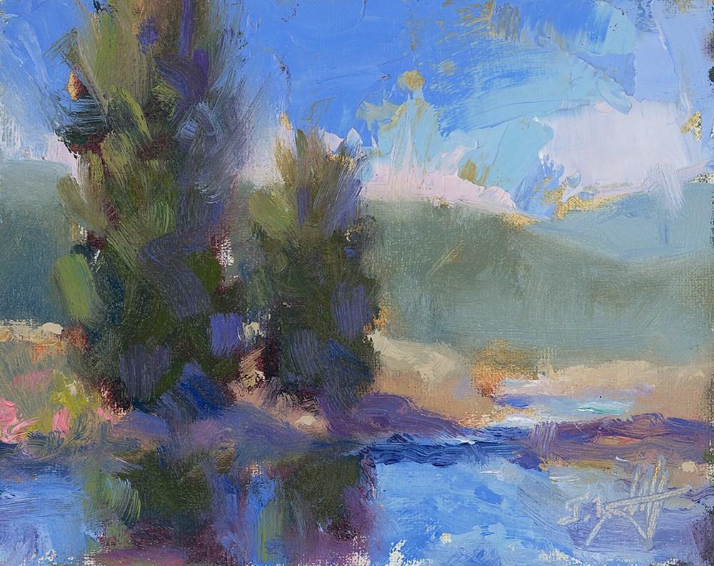 """Cobalt Streams"" original fine art by Todd Zuithof"