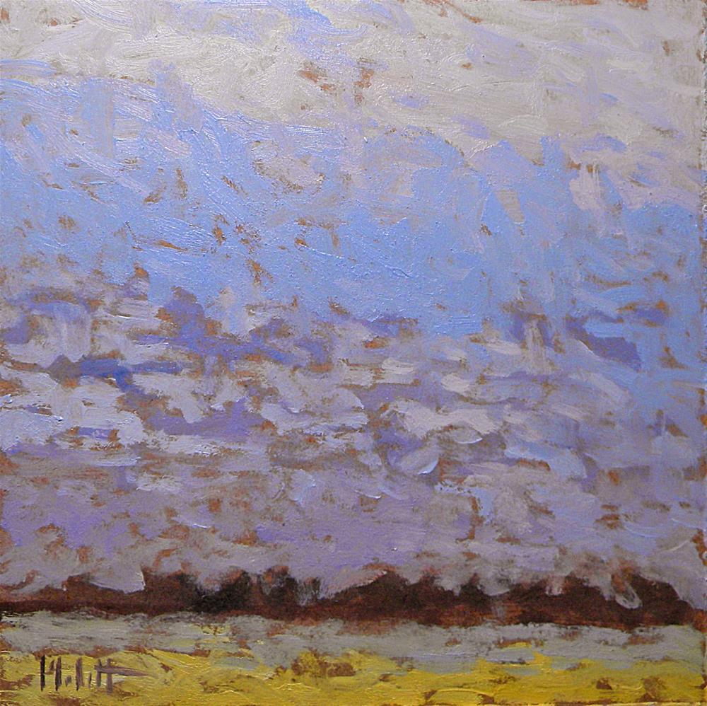 """Contemporary Impressionist Sky Blues Countryside Landscape Heidi Malott Daily Oil Paintings"" original fine art by Heidi Malott"