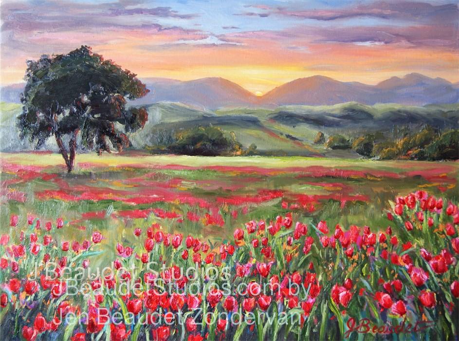 """Dance of the Tulip"" original fine art by Jennifer Beaudet"