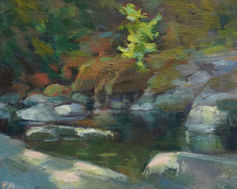 """Sweet Creek Grotto"" original fine art by Patti McNutt"