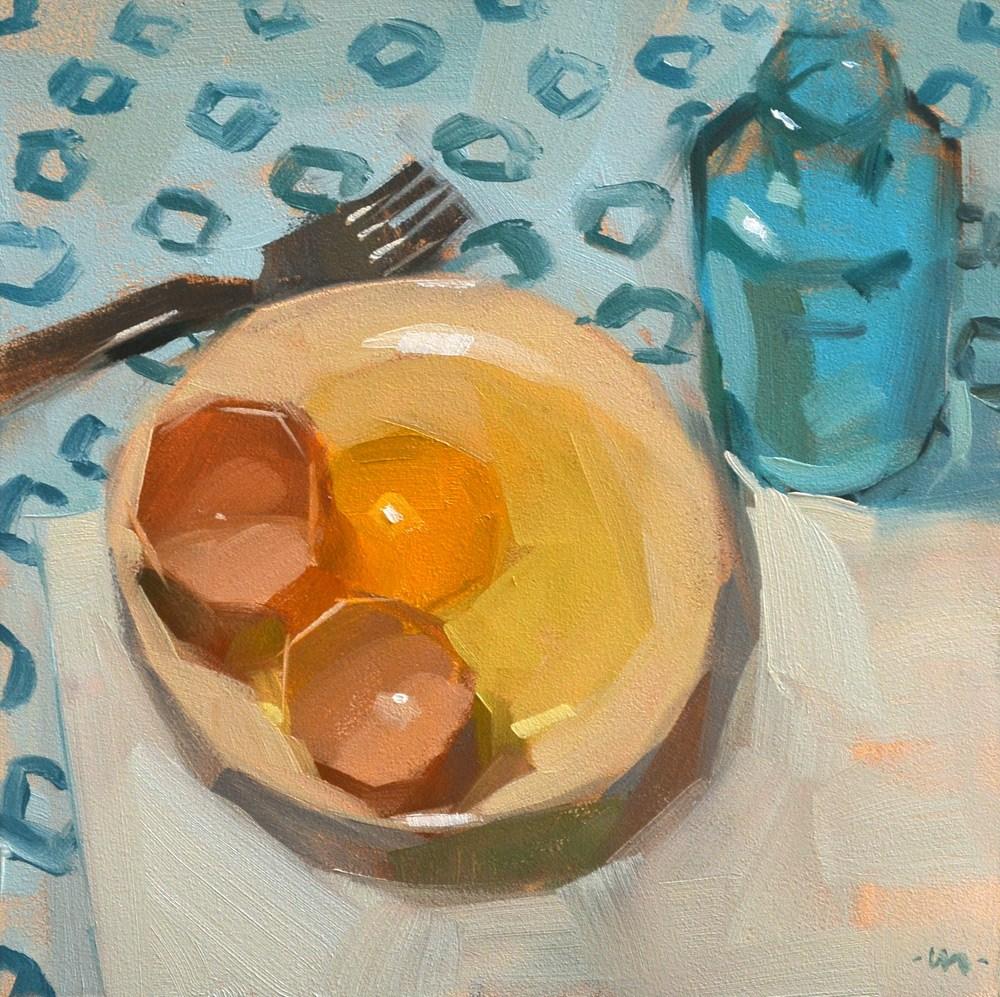 """""""Egg For Company"""" original fine art by Carol Marine"""