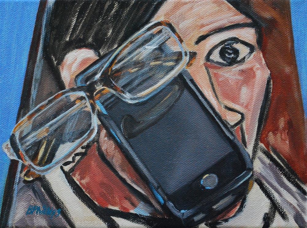 """Eyes"" original fine art by Beverley Phillips"
