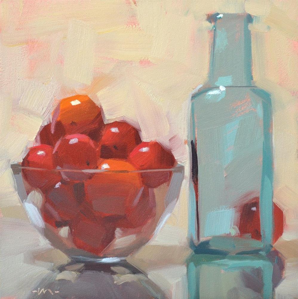 """""""Plum Shy"""" original fine art by Carol Marine"""