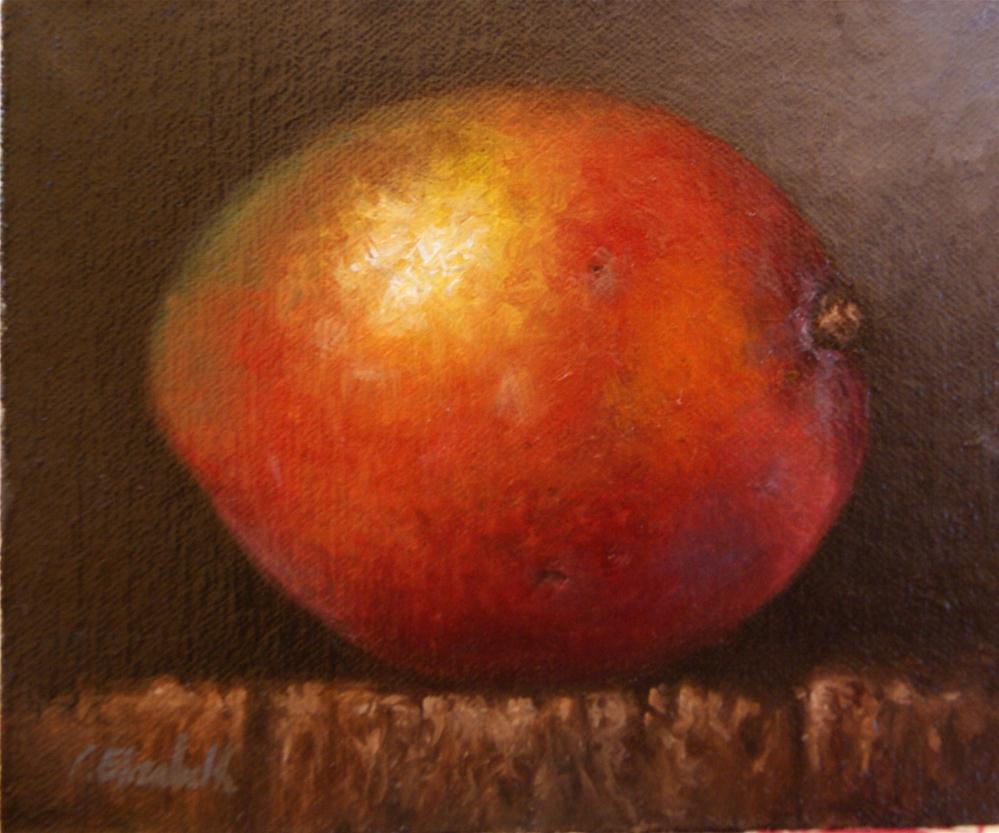 """Mango No.3 Still Life"" original fine art by Carolina Elizabeth"