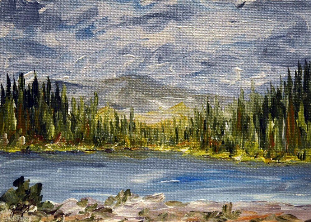 """SALE!!! Clark Lake"" original fine art by Gloria Ester"
