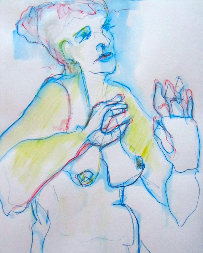 """Sketchbook Figure Study #5"" original fine art by Patricia MacDonald"