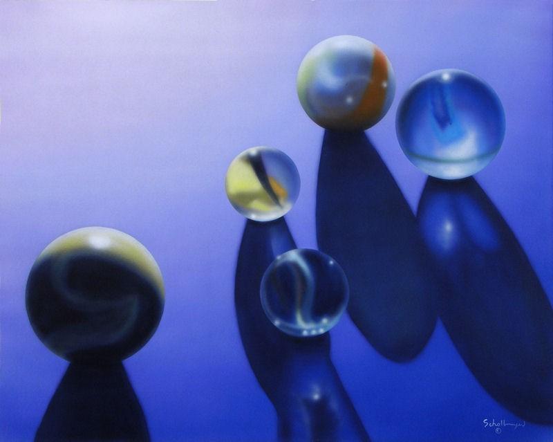 """""""Marbles #7"""" original fine art by Fred Schollmeyer"""
