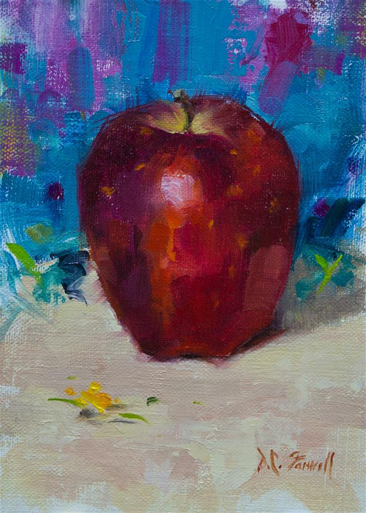 """Red Delicious Apple"" original fine art by Donna C Farrell"