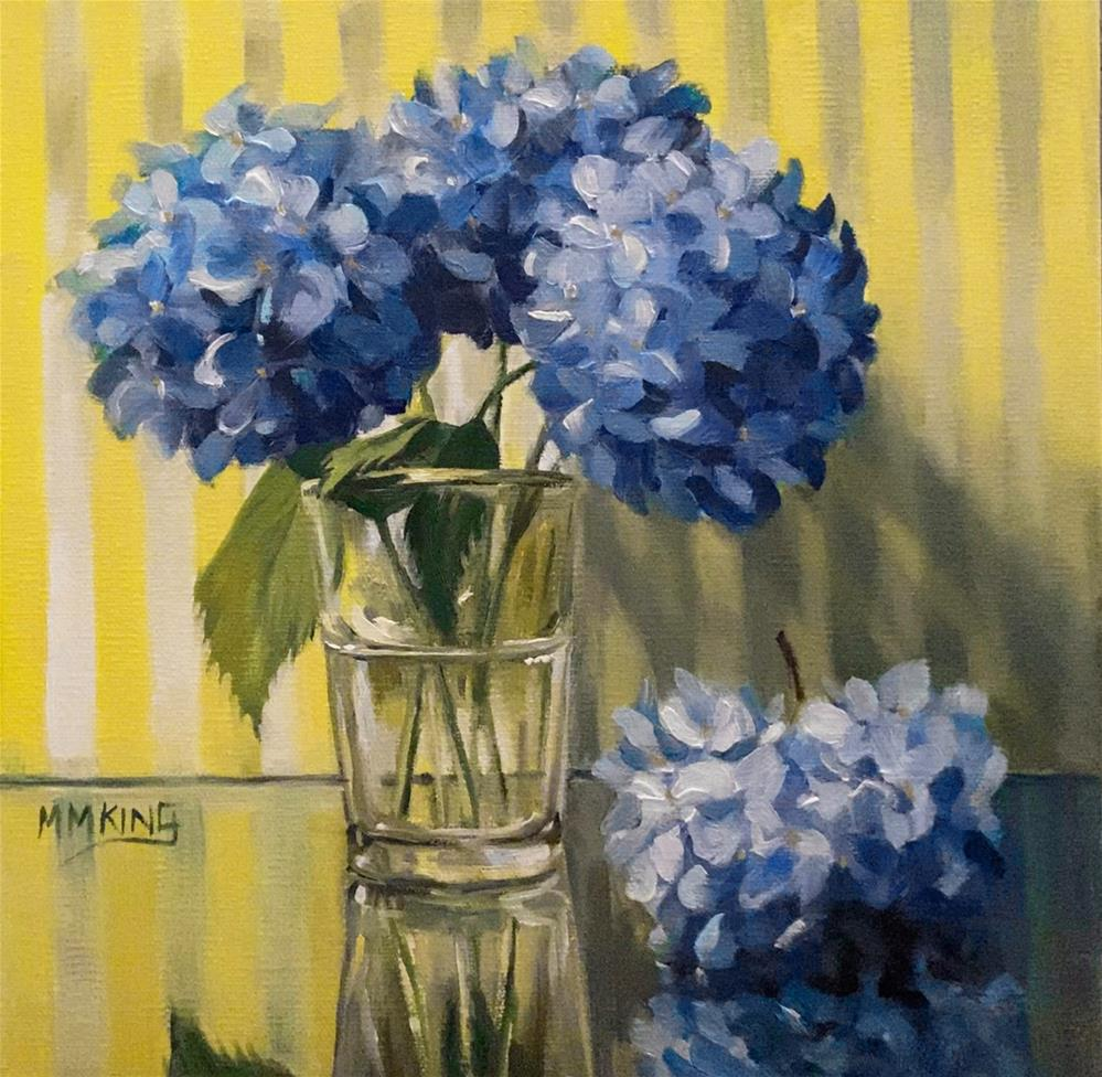 """Composition in Blue and Yellow"" original fine art by Marilyn M King"
