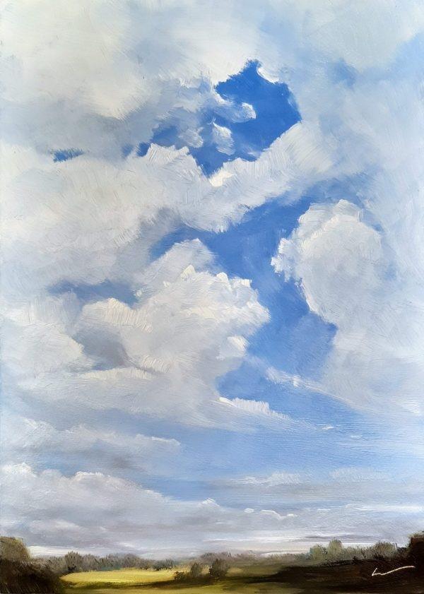 """Cloud Gap"" original fine art by Wolfango Chiappella"