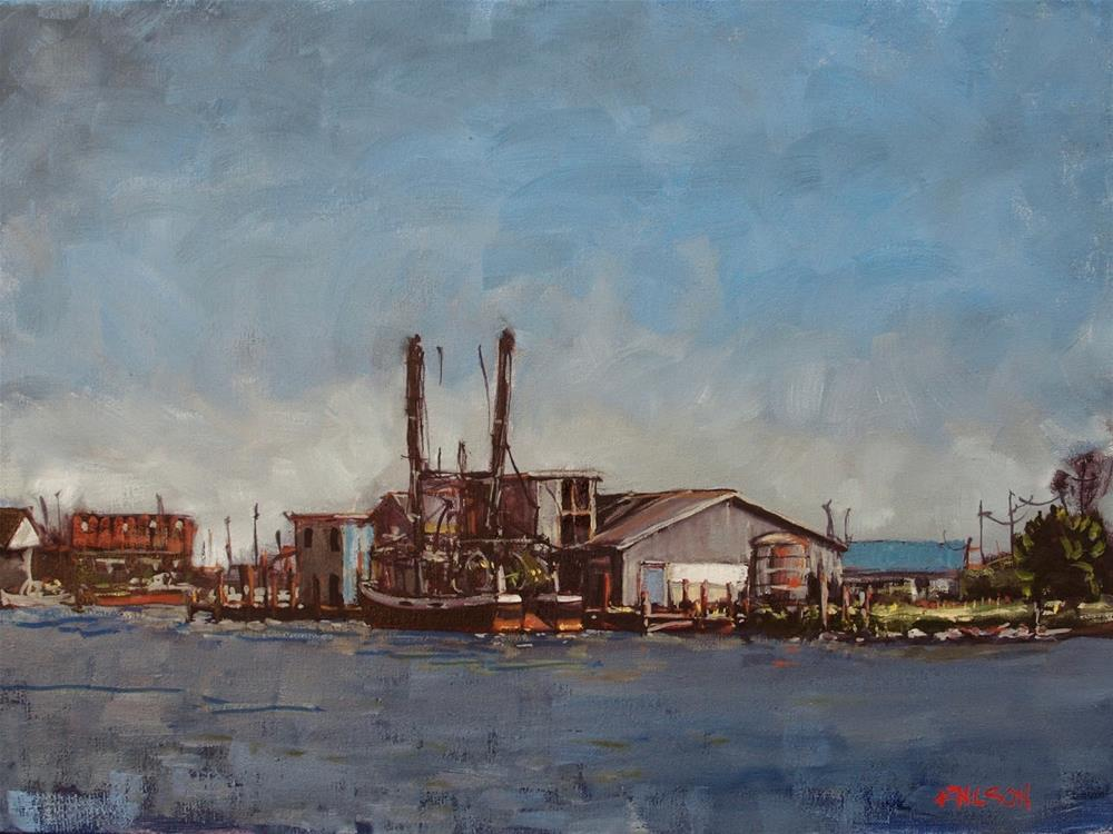 """""""Wanchese on the Pamlico"""" original fine art by Rick Nilson"""