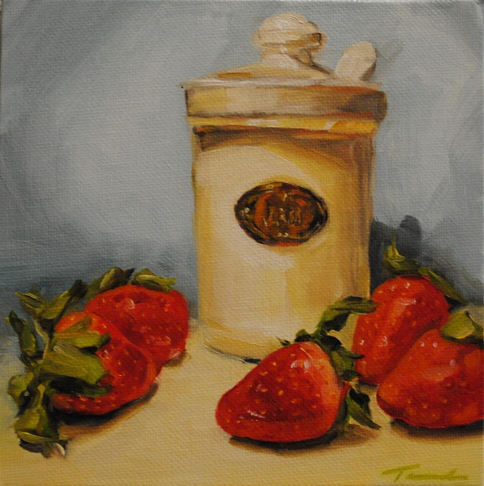 """""""Strawberry Jam"""" original fine art by Tamanda Elia"""