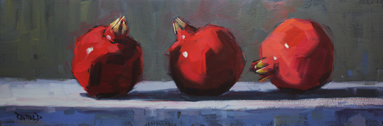 """""""3 Poms - commissioned painting"""" original fine art by Cathleen Rehfeld"""