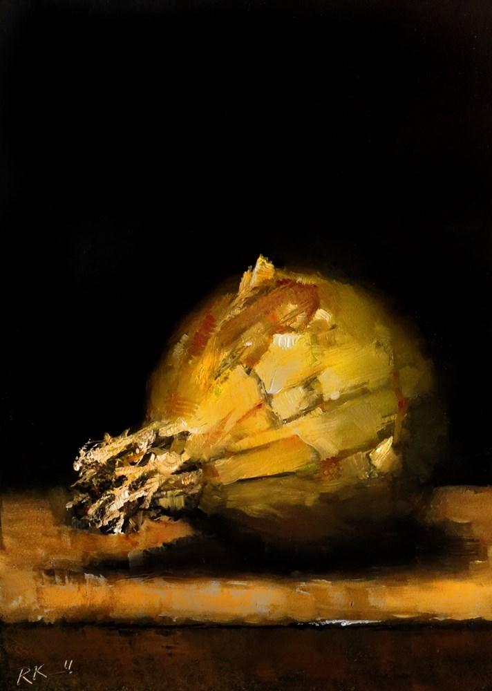 """""""Yellow Onion"""" original fine art by Bob Kimball"""