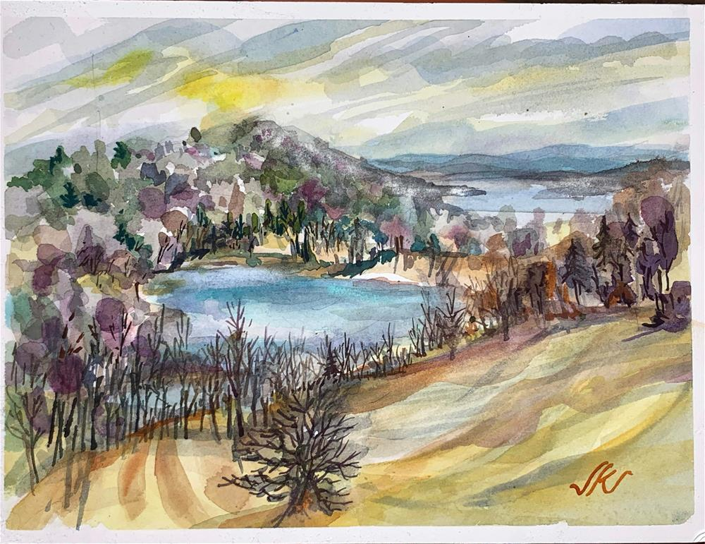 """Olana, Hudson River Valley, NY"" original fine art by Jean Krueger"