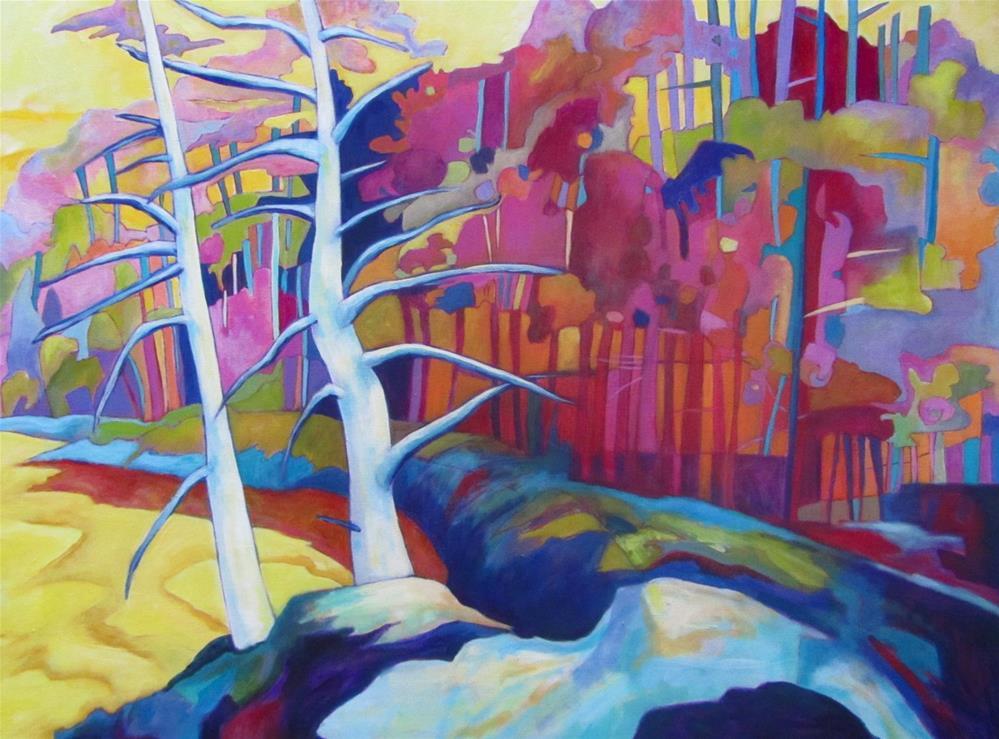 """Summer Pines"" original fine art by Patricia MacDonald"