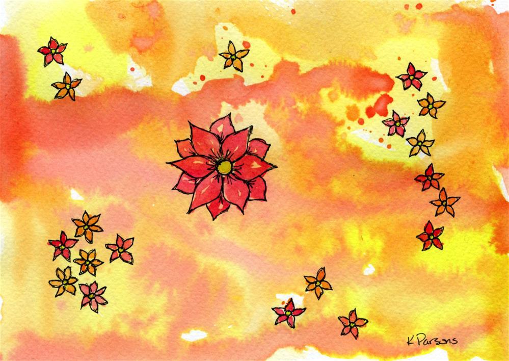 """Sunset Flowers"" original fine art by Kali Parsons"