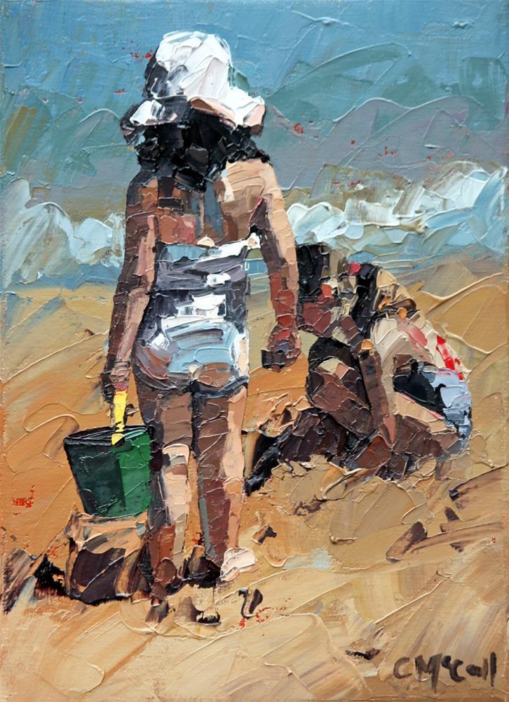"""Sandcastles Petite II"" original fine art by Claire McCall"