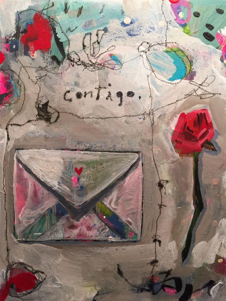 """""""158 Contigo"""" original fine art by Jenny Doh"""