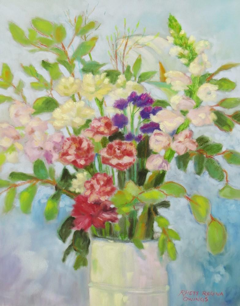 """""""Farmer's Market Bouquet"""" original fine art by Rhett Regina Owings"""