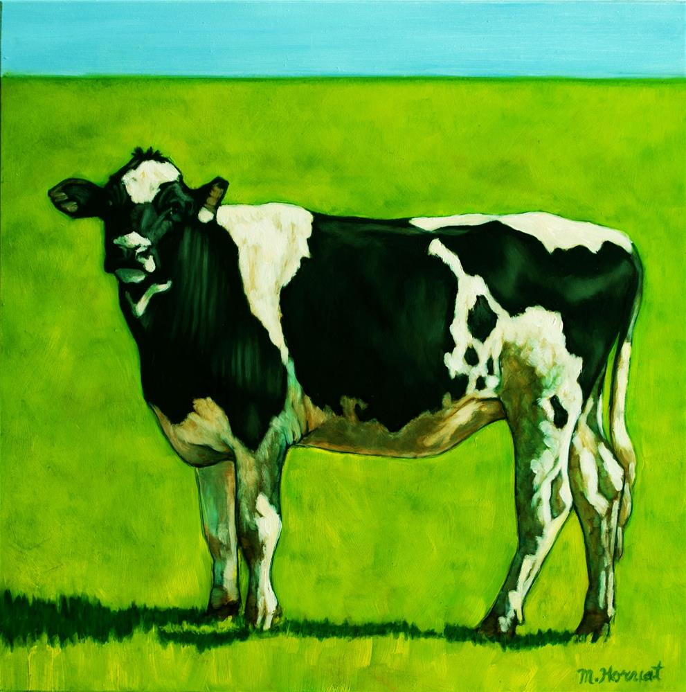 """Wheatley River Cow"" original fine art by Margaret Horvat"