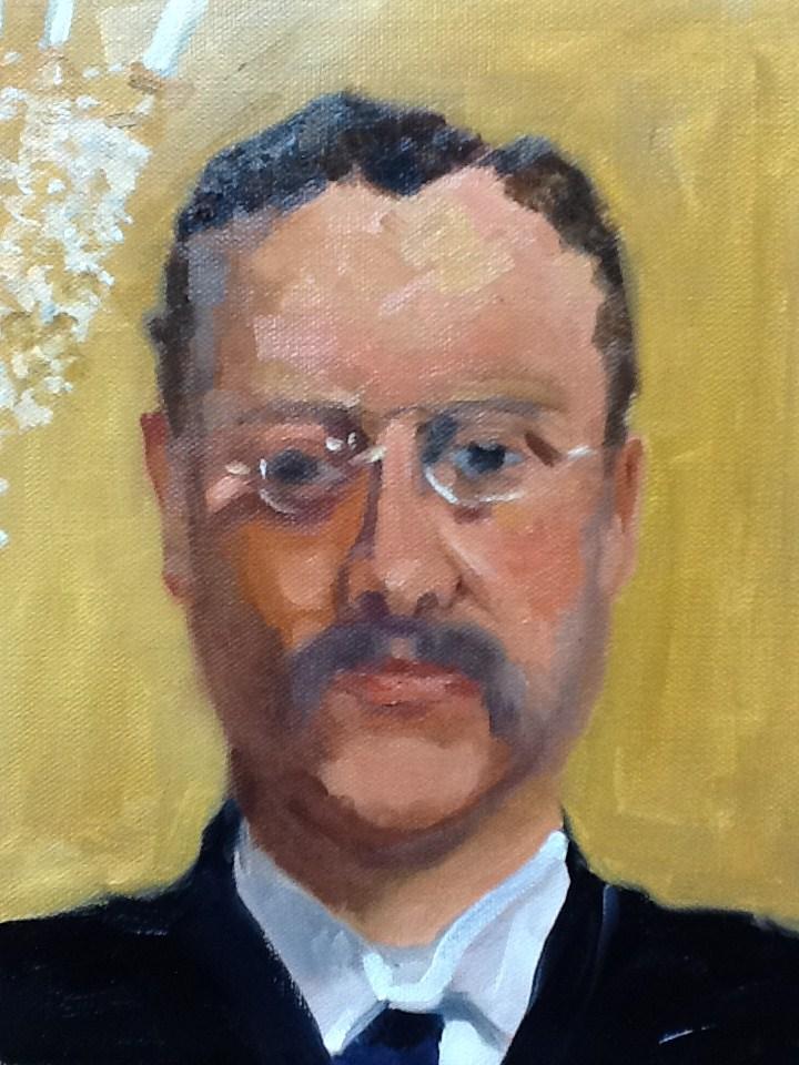 """Theo"" original fine art by Peggy Schumm"