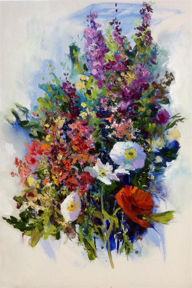"""""""Flamboyant"""" original fine art by Cathy Boyd"""