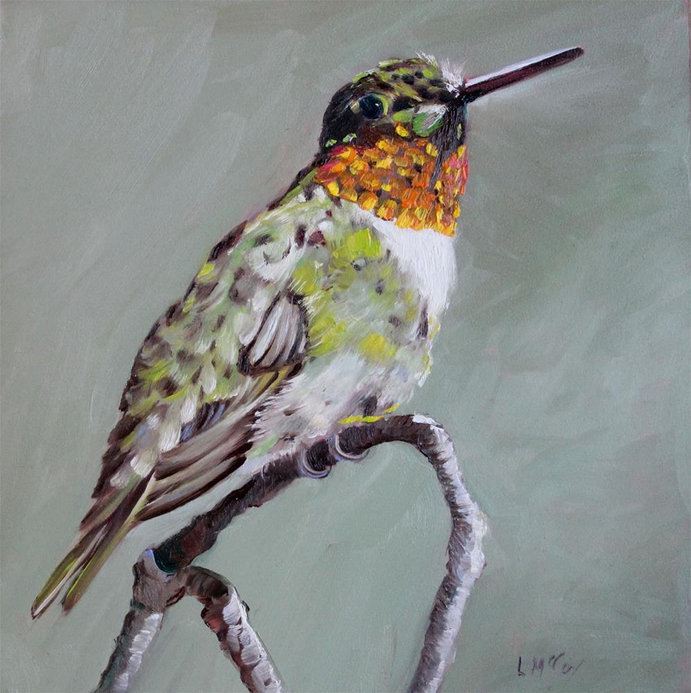 """Longing, Hummingbird, Linda McCoy"" original fine art by Linda McCoy"