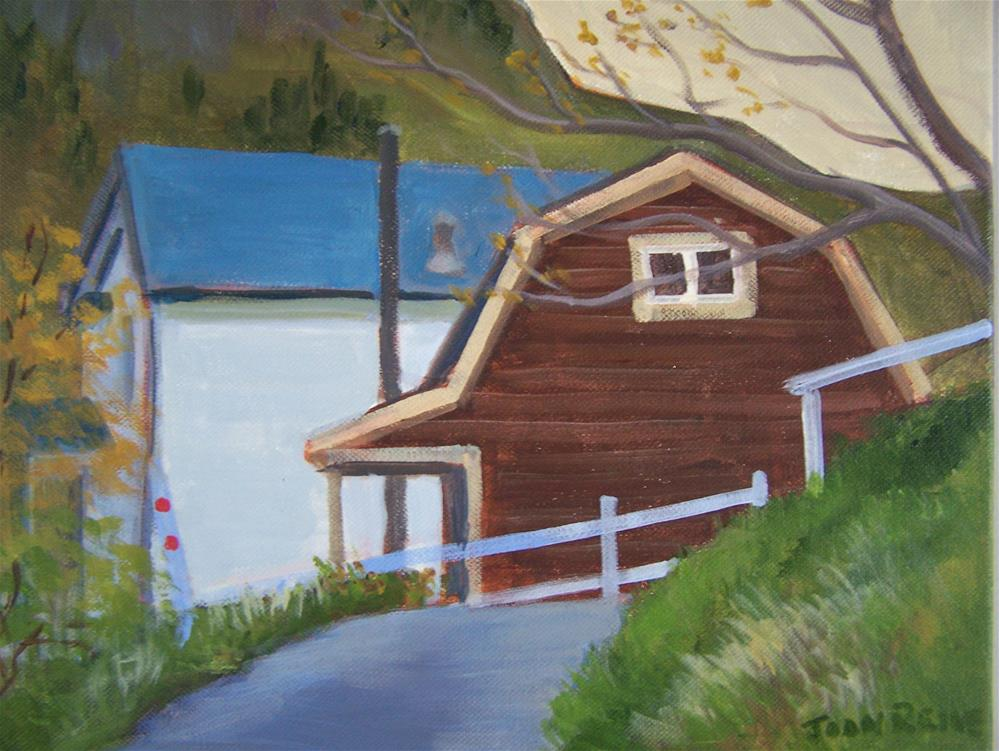 """Brown House Newfoundland"" original fine art by Joan Reive"