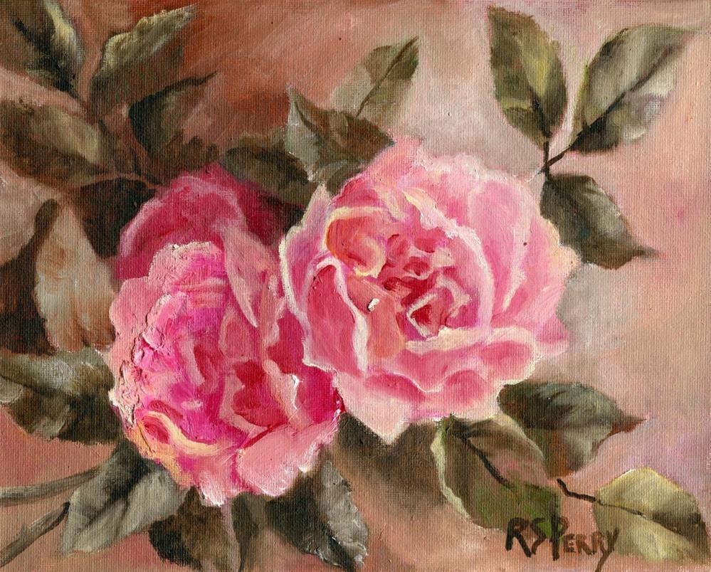 """Rosa Gallica Regalis"" original fine art by R. S. Perry"