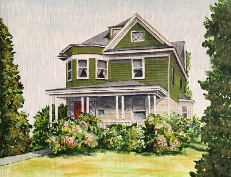 """Prospect Ave"" original fine art by Nan Johnson"
