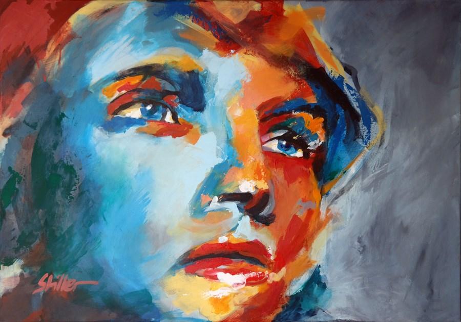 """1783 Portrait Uma"" original fine art by Dietmar Stiller"