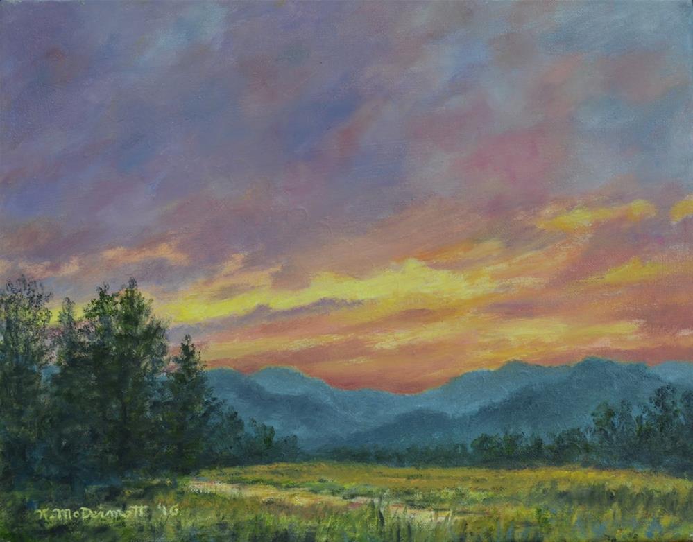 """""""Sky Glow # 2 (C) 2016 by K. McDermott"""" original fine art by Kathleen McDermott"""