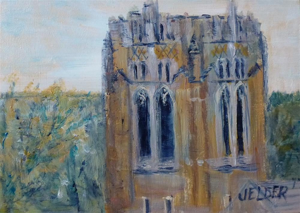 """Church Tower"" original fine art by Judith Elder"